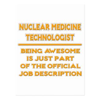 Nuclear Med Tech .. Job Description Postcard