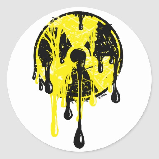 Nuclear meltdown classic round sticker