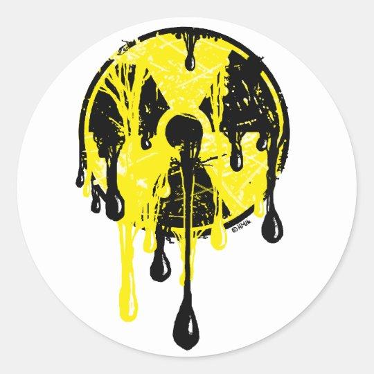 Nuclear meltdown round sticker