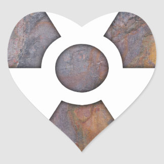 Nuclear - Paint Texture Heart Sticker