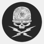 Nuclear Pirate Round Sticker