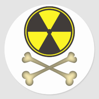 Nuclear power is dangerous round sticker