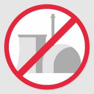 nuclear power - no thank you runder aufkleber