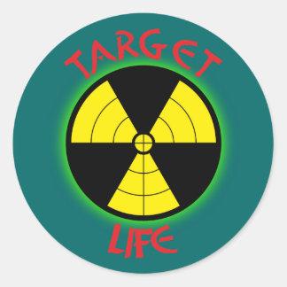 Nuclear power nuclear power danger death nuclear p round sticker