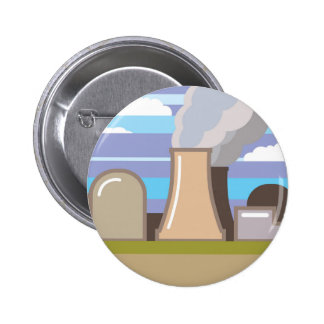 Nuclear Power Plant 6 Cm Round Badge