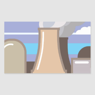 Nuclear Power Plant Rectangular Sticker