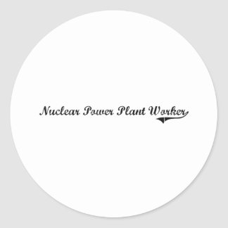 Nuclear Power Plant Worker Professional Job Round Sticker