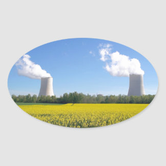 Nuclear power seedling - Nuclear power plant Oval Sticker