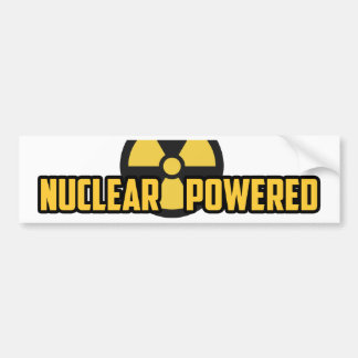 Nuclear Powered Bumpersticker Bumper Sticker