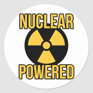 Nuclear Powered Round Sticker