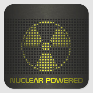 Nuclear Powered Square Sticker