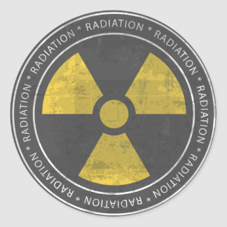 Nuclear - Radiation Sign Sticker