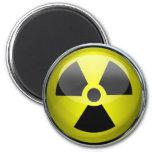 Nuclear Radiation Symbol Radioactive Warning Sign 6 Cm Round Magnet