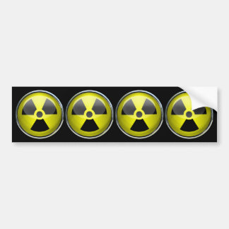 Nuclear Radiation Symbol Radioactive Warning Sign Bumper Sticker