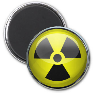 Nuclear Radiation Symbol Radioactive Warning Sign Magnet