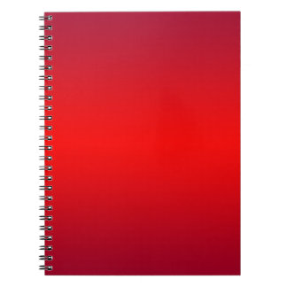 Nuclear Red Gradient - Poppy Reds Template Blank Note Book