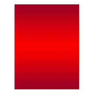 Nuclear Red Gradient - Poppy Reds Template Blank Postcard