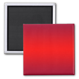 Nuclear Red Gradient - Poppy Reds Template Blank Square Magnet