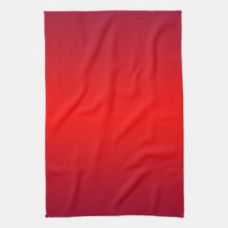 Nuclear Red Gradient - Poppy Reds Template Blank Tea Towel