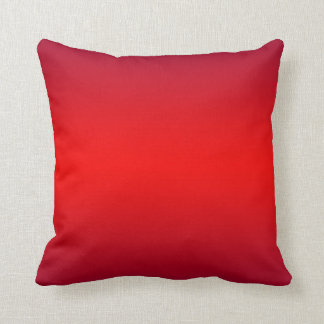 Nuclear Red Gradient - Poppy Reds Template Blank Throw Cushions