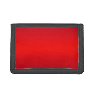 Nuclear Red Gradient - Poppy Reds Template Blank Tri-fold Wallet