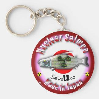 Nuclear Salmon red Key Chain