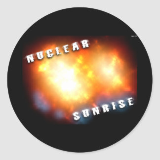 Nuclear Sunrise Round Sticker