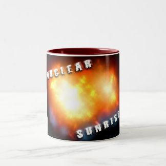 Nuclear Sunrise Two-Tone Mug