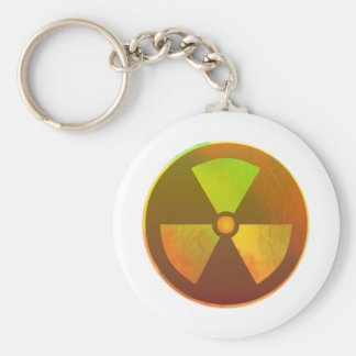 Nuclear Symbol Radioactive Glow Key Ring