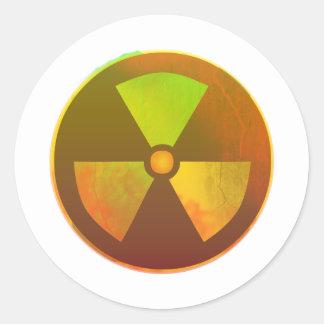 Nuclear Symbol Radioactive Glow Sticker