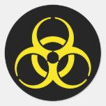 Nuclear Symbol Round Sticker