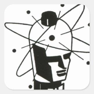 Nuclear Tube Head Square Sticker