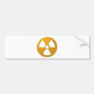 Nuclear Warning Bumper Sticker