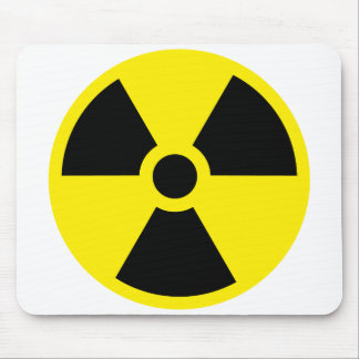 Nuclear warning mouse pad