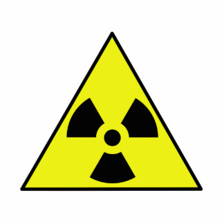 Nuclear Warning Triangle Standing Photo Sculpture