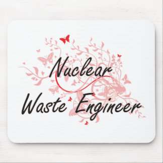 Nuclear Waste Engineer Artistic Job Design with Bu Mouse Pad