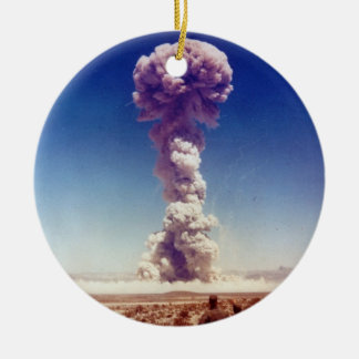Nuclear Weapons Test Operation Buster-Jangle 1951 Round Ceramic Decoration