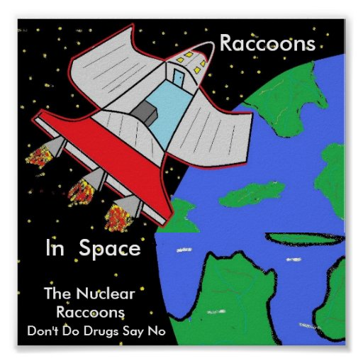nuclearraccoonss, The Nuclear , Kirk the Kung,F... Print