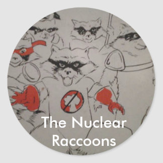 nuclearraccoonss, The Nuclear Raccoons Round Sticker