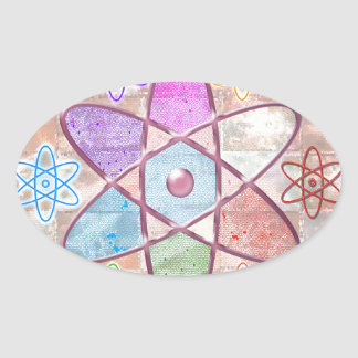 NUCLEUS - Adding Beauty to Science Oval Sticker
