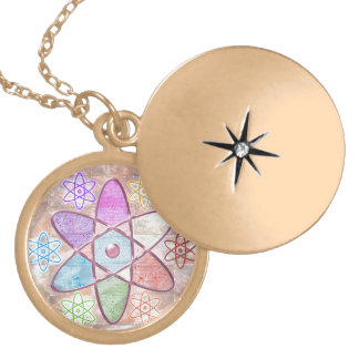 NUCLEUS - Adding Beauty to Science Round Locket Necklace