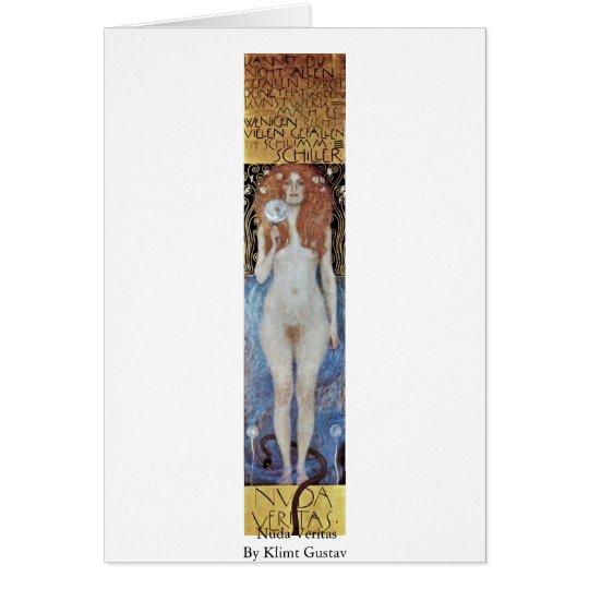 Nuda Veritas By Klimt Gustav Card