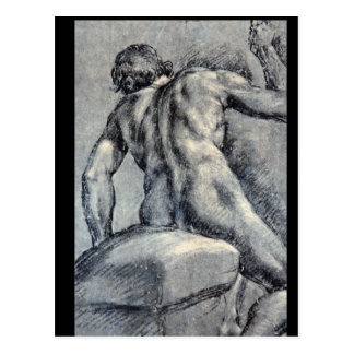 Nude Man, Seen From_Studies of the Masters Postcard