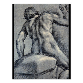 Nude Man, Seen From_Studies of the Masters Poster