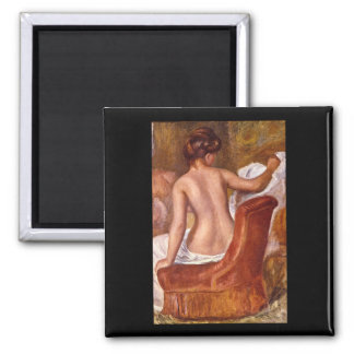 Nude Stretched out on_Groups and Figures Square Magnet