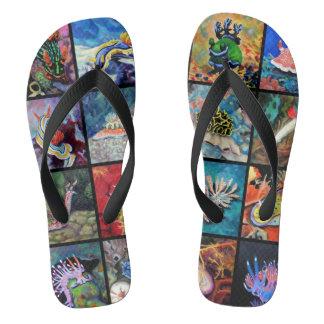 Nudi Art Flip Flops
