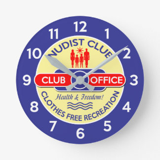 Nudist Club Office Clock
