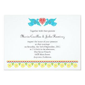 Nuestra Boda Lovebirds Papel Picado Banner Card