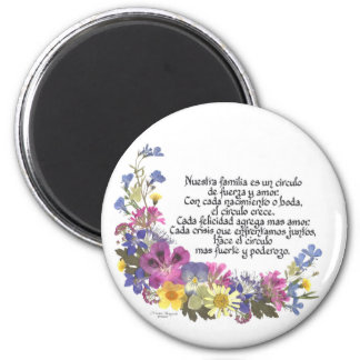 Nuestra Familia (Our Family) 6 Cm Round Magnet