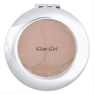 Nuetral Glam Girl Compact Mirror